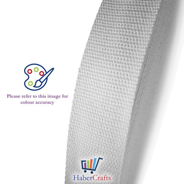 Cotton Webbing Tape Belting Fabric Strap Bag Making Strapping Width