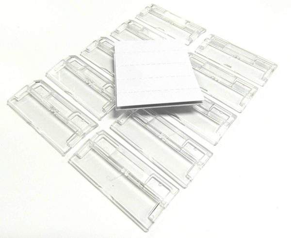 HaberCrafts Suspension File White Inserts & Clear Plastic Tabs Filing Index