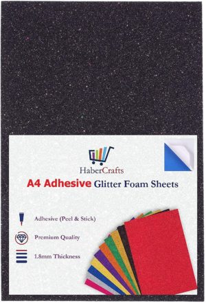 A4 Foam Glitter Sheets Adhesive Sticky Back Peel Off Acid Free Eva Foam Sheet 1.8mm Thick